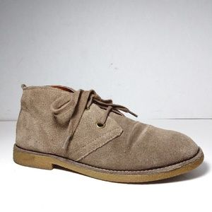 Lucky Brand Emillia Taupe Suede Oxford Shoes Sz6B